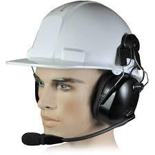 safety helmet with radio