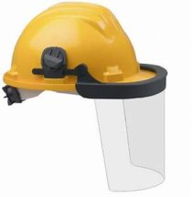 face shield with helemt