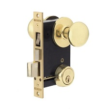 CYLINDER MORTISE LOCK WITH KNOB