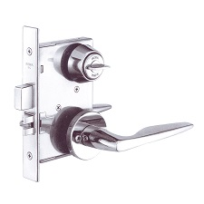 CYLINDER MORTISE LOCK WITH LEVER HANDLE