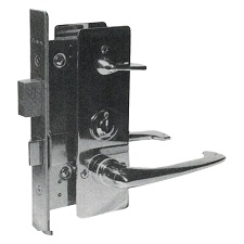 INDICATOR MORTISE LOCK WITH LEVER HANDLE